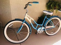 "Schwinn Women's Legacy 26"" Cruiser Bike- Blue/White -Never R"
