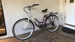 Schwinn Women's Sanctuary 7-Speed Cruiser Bicycle  Cream/Pur