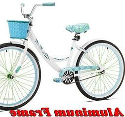 "KENT WOMEN'S 26"" WHITE CRUISER BIKE Aluminum Frame Lightwe"