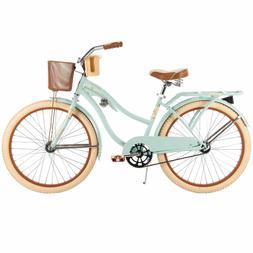 """Womens Beach Cruiser Bike 26"""" Vintage Bicycle Basket Ladies"""