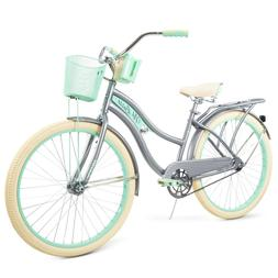 Womens Classic Cruiser Bike Gray Huffy 26' Nel Lusso Sports