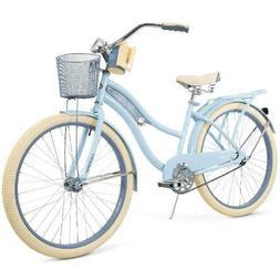 "Womens Cruiser Beach Bike Basket 26"" Cup Holder Padded Seat"