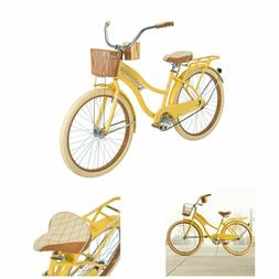 Womens Cruiser Bike 26 Vintage Beach Bicycle Basket Ladies C