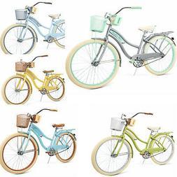 Womens Cruiser Bike Bicycle Ladies Coast Basket Comfort Huff